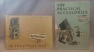 Rolleiflex 3.5 Instruction Manual & Rolleicord Practical Accessories Booklet