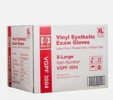 1000 Ct Basic Xl Exam Vinyl Gloves Clear Powder Free Non Latex Gloves
