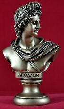 Apollo Βust greek statue light music god gold patina NEW Free Shipping Tracking
