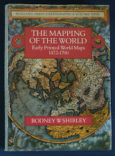 KARTHOGRAPHIE - Standardwerk über Weltkarten Shirley Early Printed World Maps.