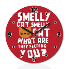 Phoebe Smelly Cat Friends Funny Round Wall Clock Home Office Room Decor
