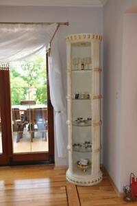 Display Case BAR Corner Shelf Glass Amphora Bodenfase Columns Wardrobe 1860