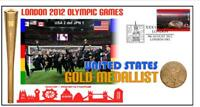 USA WOMENS SOCCER TEAM 2012 OLYMPIC GOLD MEDAL COVER 2