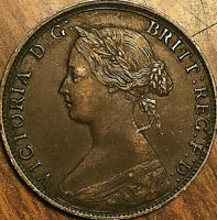 1864 NOVA SCOTIA LARGE 1 CENT PENNY COIN - Excellent example!