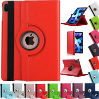 """Leather 360 Rotating Smart Case Cover for Apple iPad Air 4 10.9"""" (2020) 4th Gen"""