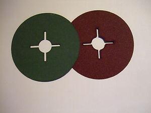 Fiberscheiben Ø 115 mm & 125mm Fiberscheibe Körnung frei wählbar ! #24 - #120