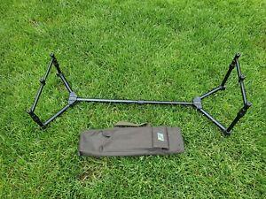 Solar Tackle A1 black Aluminium Ground Pod with buzz bars legs in case