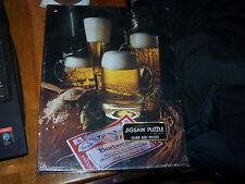 "Vintage 1982 Jigsaw Puzzle BUDWEISER Springbok Over 500 pieces ""Ahhh!"" Bud Beer"