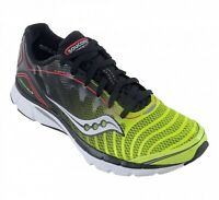 Saucony Men's ProGrid Kinvara 3 Road Running Shoes, Black/Citron/Red  20157-2