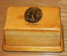 ancienne boite a timbres en bois decor  le mont dore cascade du plat a barbe