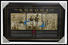 Kokoda The Victoria Cross Edition With Replica Medal Framed Official RSL ANZAC