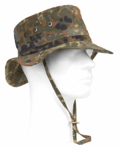 ORIGINAL German army surplus flecktarn bush boonie tropical field hat cap