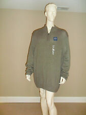 Croft&Barrow Men's Big&Tall Mock Neck Quarter Zip Knit Sweater LightSage 4XB NEW