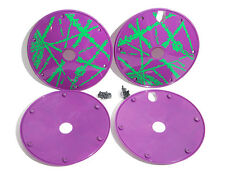 "DAY LUEN bicycle 20"" purple wheel disc covers set. NOS BMX vintage old school GT"