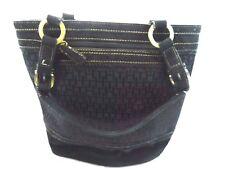 "Tommy Hilfiger Womens Handbag Black Classic Shoulder Bag with Strap 10"" x 12"""