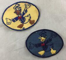 Antique Lot of 2 Disney Patches Donald Duck