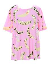t-50 LOCO GENIAL Banana Rosa Multicolor Camiseta pastel goth LOLITA Japón