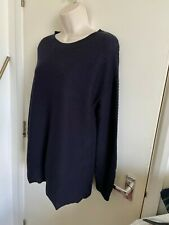 COS WOOL RIBBED JUMPER SIZE M COLOUR NAVY