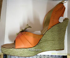 PLAYBOY SANDALS SHOES BURNT ORANGE SIZE 4 BRAND NEW IN BOX