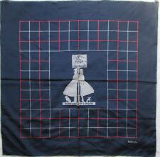 -Superbe Foulard carré BURBERRYS  100% soie  TBEG  vintage scarf