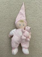 Baby GUND Ashley Pink Doll Teddy Bear 58217 Soft Blonde Blue Eyes Stuffed Toy