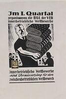 18749 Original Gráficos Diseño Certificado FDGB Bgl VEB Innerbetriebl. Wettbew.