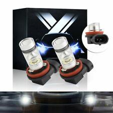 Pair Led Fog Driving Light Bulbs H11 H16 H8 6000K Xenon Bright White 100W 20Smd