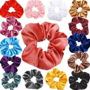 15 x Velvet Hair Scrunchies Women Elastic Hairbands Hair Extension Ring For Girl