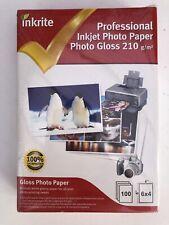 Inkrite Professional Inkjet Glossy Photo Paper 100 Sheets 6x4 200g/m - Sealed