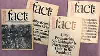 HUGH HEFNER COPY w/BOOKPLATE - Lot of 4 FACT MAGAZINES (1964) - PLAYBOY LIBRARY