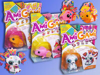 Mattel AmiGami Kinder Bastel Set Kreativ Set, Tierfigur Hamster Schwein Panda