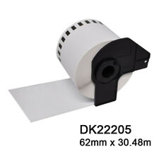 DK22205 DK-2205 Brother Compatible Continuous Labels (BPA Free) + 1 Cartridge