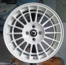 """Cerchi in Lega 8jx17"""" 4x98 per LANCIA DELTA INTEGRALE HF set 4 Ruote- white rims"""