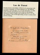 1939 Lee de forest - the Father of Radio - Great inventor - signed Als Rare