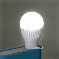 USB Mini LED Cool White Night Light Bulb for Portable Reading Flashlight NEW