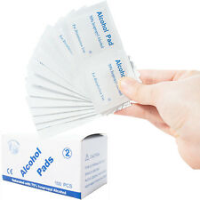 100Pcs/Box Disposable Alcohol Cotton Pads Nail Cleaner Antimicrobial Swabs Wipes