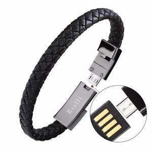 Usb Bracelet Cable Charger Data Sync For iPhone X 7 8 Samsung S8 Phones Android
