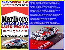 ANEXO DECAL 1/43 TOYOTA CELICA CARLOS SAINZ ACROPOLIS RALLY 1990 (07)
