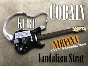 Kurt Cobain Vandalism Strat NIRVANA Live at the PARAMOUNT Squier guitar Grunge