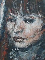 "Acryl Gemälde Unikat""Alphaville"" Original. 40 x 50cm. Ohne Rahmen."