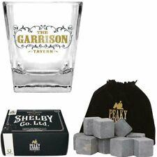 Peaky Blinders GARRISON Whiskey DRINKING GLASS Tumbler & Stones SET