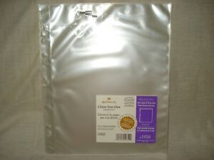 Hallmark AR1026 Album Refill 8 Single Pocket Pages Large 3-Ring & Post-Bound NEW