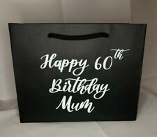 Personalised Gift Bag Age Birthday 16th 18th 21st 30th 40th 50th 60th Any Name B