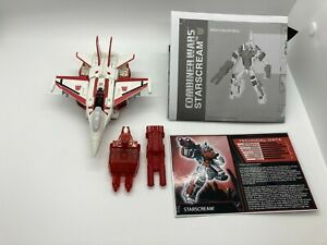 Transformers TFSS 5.0 Combiner Wars Shattered Glass Starscream LOOSE COMPLETE