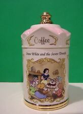 LENOX SNOW WHITE & the SEVEN DWARFS COFFEE CANISTER from Disney set NEW in BOX