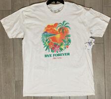 """NEW NEFF Men's White """"Bye Forever"""" Island Short Sleeve Shirt XL EXTRA LARGE"""