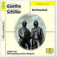 WILL QUADFLIEG/GERD WESTPHAL - GOETHE-SCHILLER-BRIEFWECHSEL  2 CD  HÖRBUCH  NEU