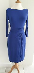 BODEN - ROYAL BLUE GATHERED DRESS - SIZE 10R - EXCELLENT CONDITION