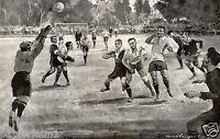 Handball Endspiel 1924 Kunstdruck Seckbach Friesenheim Langenberg Meisterschaft