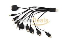 10 in 1 Universal Multi USB Charger Cable For Mobile Phone iPhone iPod PSP Nokia